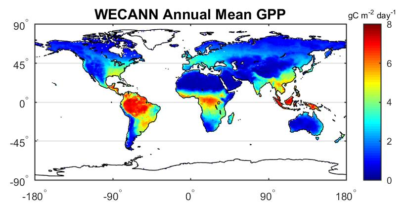 WECANN Annual Mean GPP image